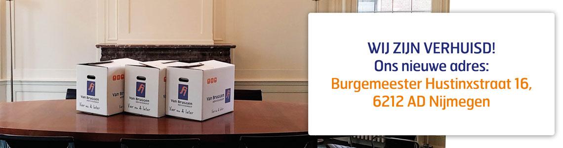 Van Bruggen Adviesgroep Nijmegen heeft een nieuw adres